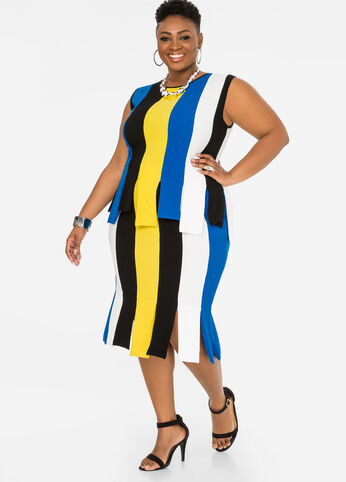 Colorblock Carwash Skirt