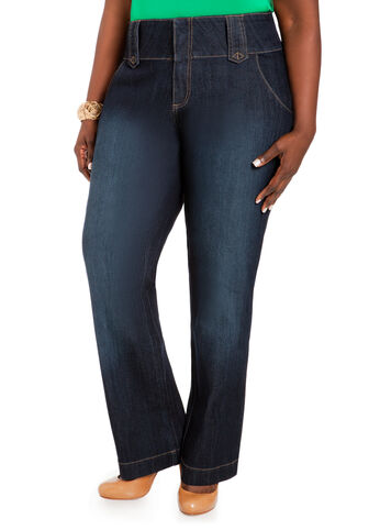 Trouser Style Denim Pants