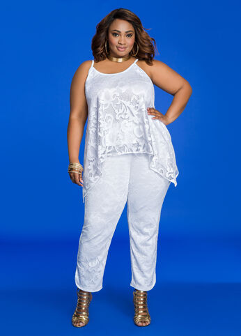 Plus Size Outfits - All White Everything
