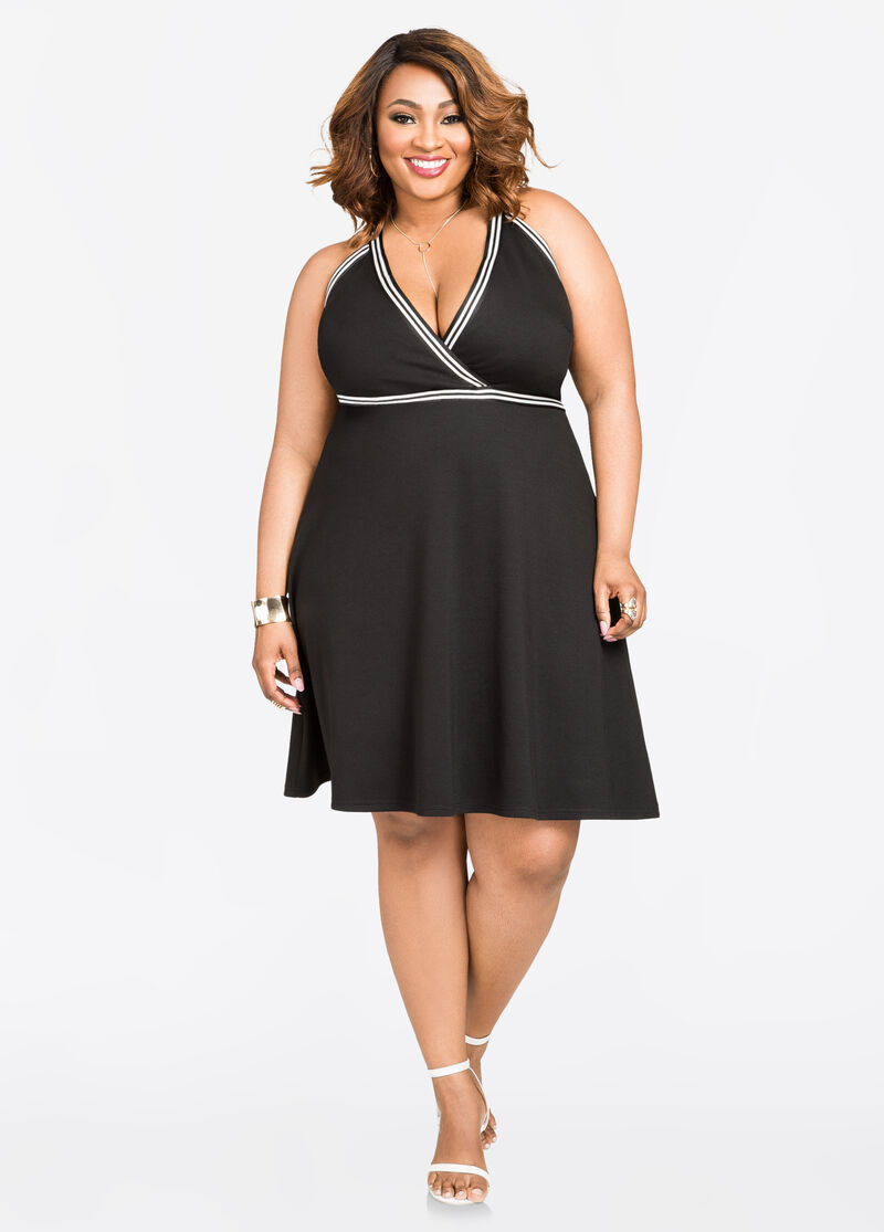 Plus Size Black Dresses & Jumpsuits | Ashley Stewart