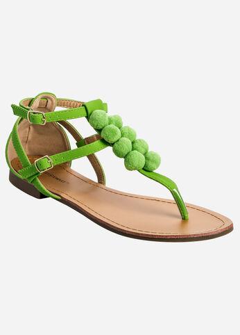 Pom T-Strap Sandal - Wide Width
