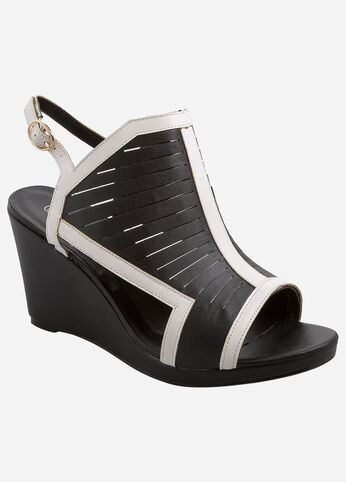 Multi Slit Cut Out Wedge - Wide Width