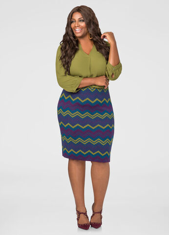 Chevron Sweater Skirt