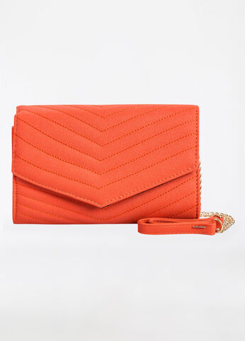 Flapover Shoulder Bag with Chain