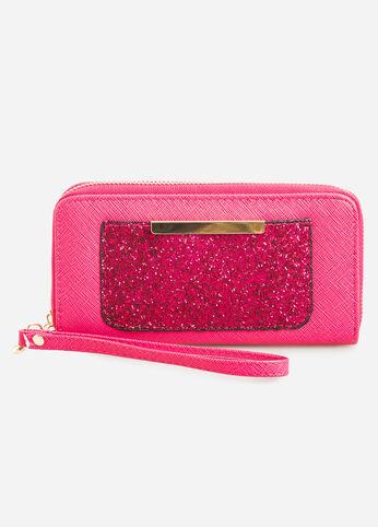 Sequin Pocket Wallet Pink - Accessories