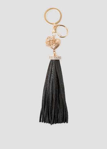 Stone Tassel Handbag Charm
