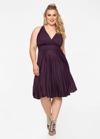 Marilyn Pleated Skirt Halter Top Dress