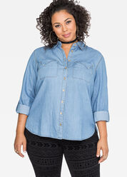 Slant Pocket Jean Shirt