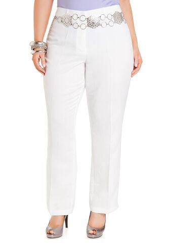 Slim Fit Linen Pants