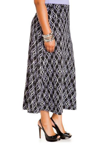 Scroll Print Maxi Skirt