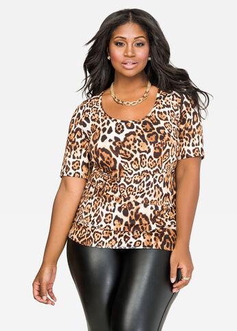 Tiered Leopard Print Top