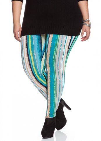 Multi-colored Striped Legging