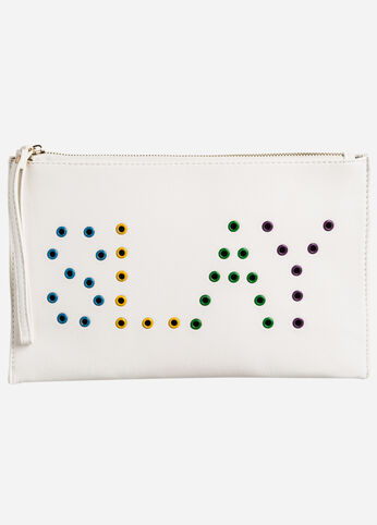 Colored Grommet Slay Wristlet