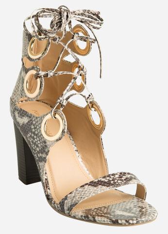 Oversized Grommet Sandal - Wide Width