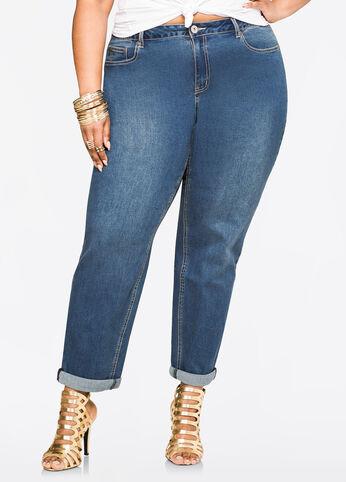 Vintage Cuff Straight Leg Jean