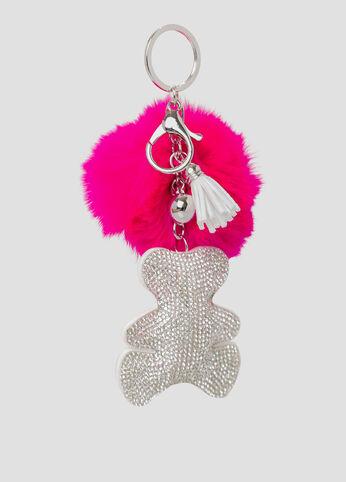 Teddy Pom Handbag Charm
