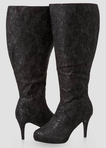 Glam Knee High Boots - Wide Width, Wide Calf