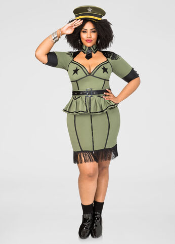 Sexy Army Brat Plus Size Costume