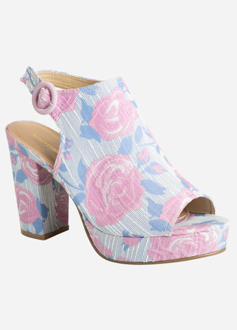 Embroidered Platform - Wide Width Pink - Shoes