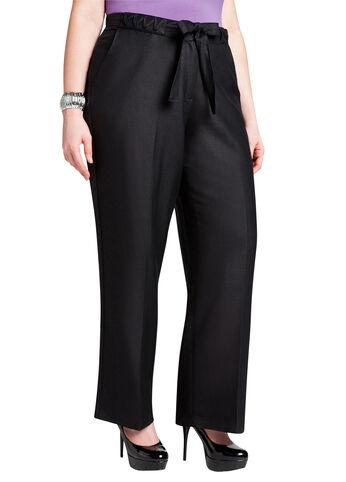 Whipstitch Linen Pant