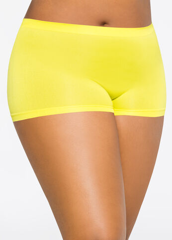 Simply Seamless Boyleg Panty Citron Lime - Intimates