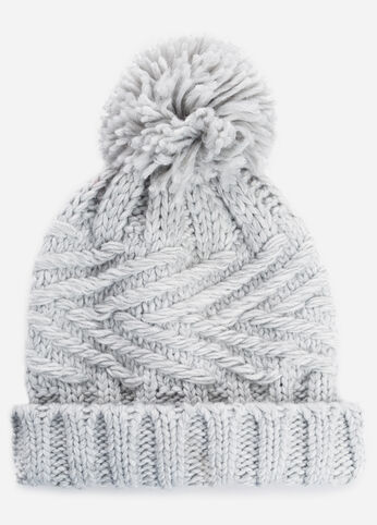 Pom Top Beanie Hat