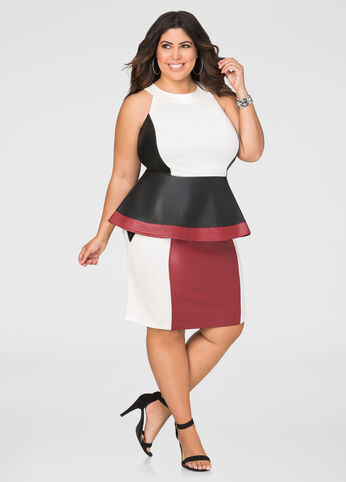 Ponti Faux Leather Pencil Skirt
