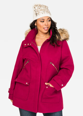 Hooded Duffle Winter Coat