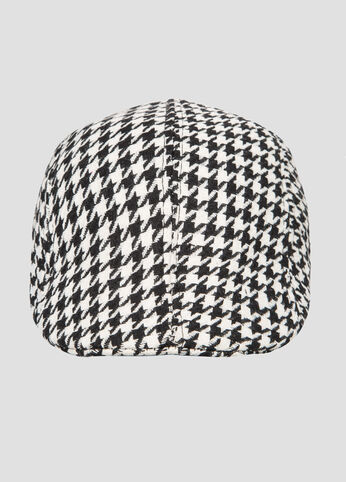 Houndstooth Cabbie Hat