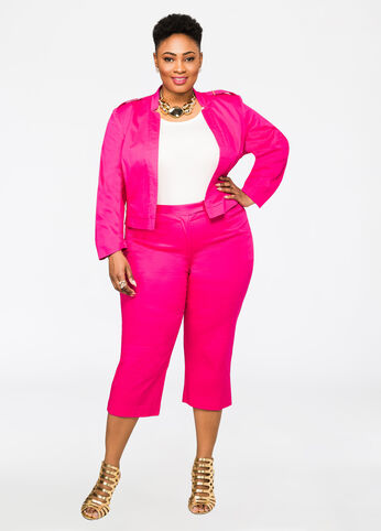 Plus Size Outfits - Pink Power Suit