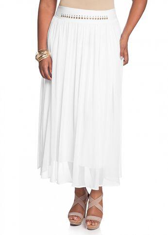 Studded Georgette Skirt