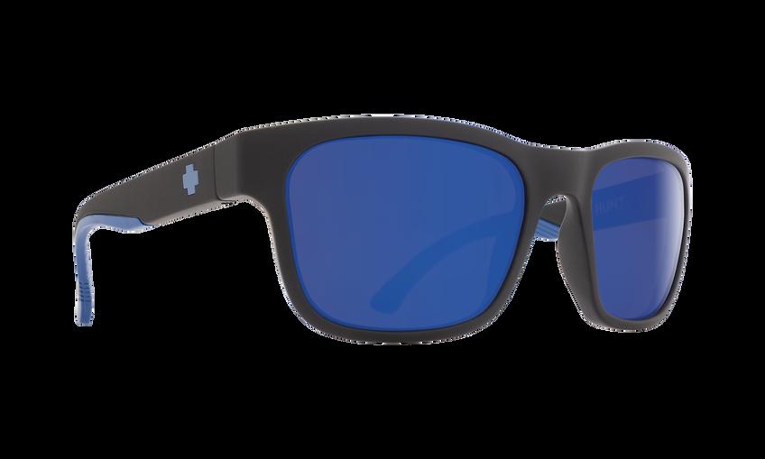 HUNT MATTE BLACK NAVY - HAPPY BRONZE POLAR W/ DARK BLUE SPECTRA