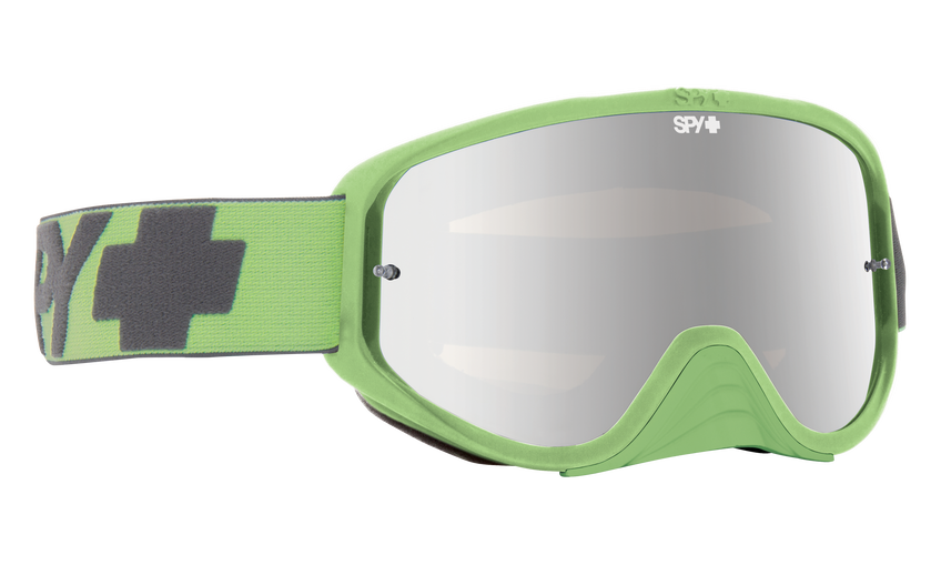 Woot Race Mx Goggle - Washed Out Green/Smoke with Silver Spectra + Clear AFP