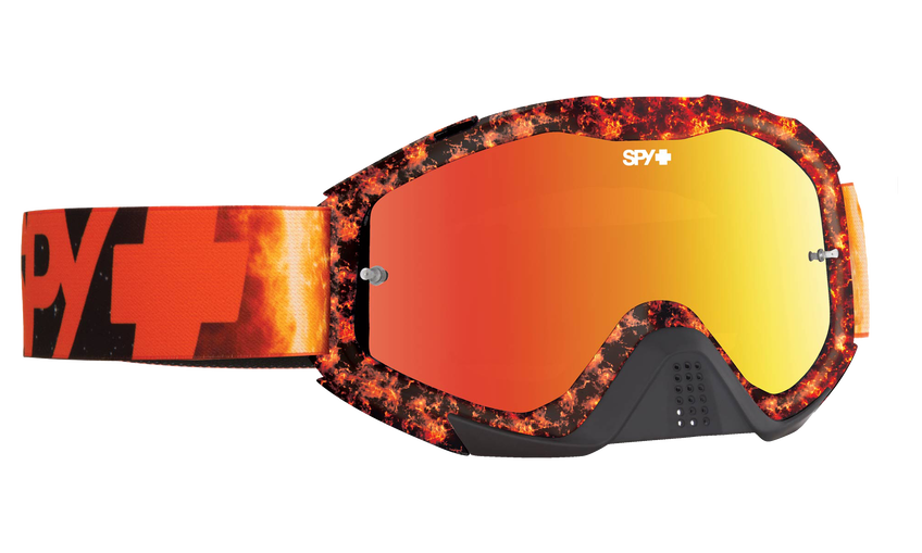 Klutch Mx Goggle - Flare/Smoke with Red Spectra + Clear AFP