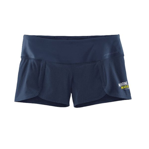 "Brooks women's 2015 MCM 3.5"" Racey shorts."