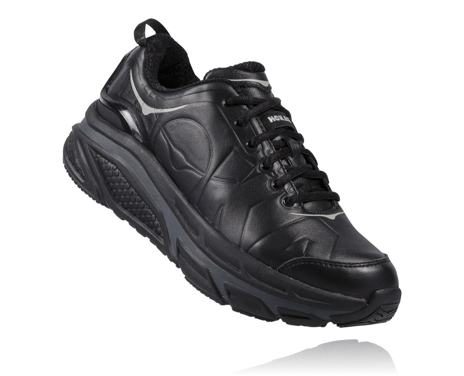 Wide black walking shoes