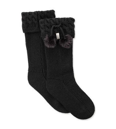 Pom Pom Tall Rain Boot Sock