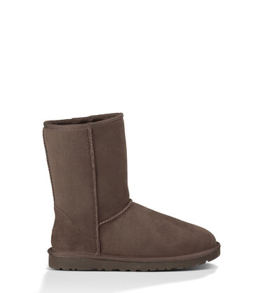 Women's Chocolate Classic Short Boot Side View