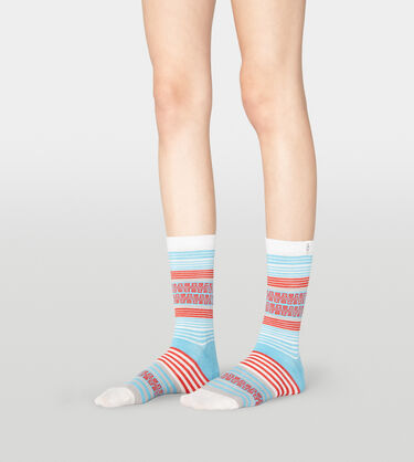 Merino Wool Stripe Crew Sock