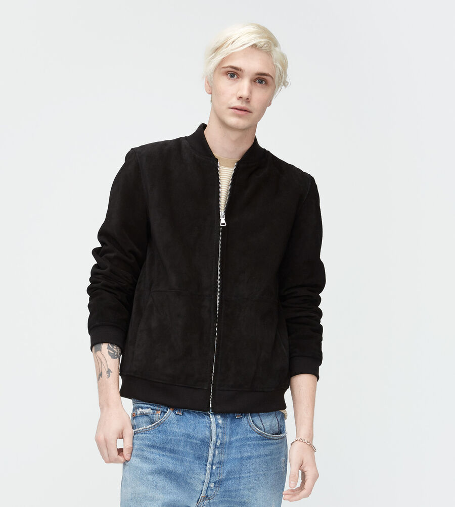 Suede Bomber Jacket - Image 1 of 3
