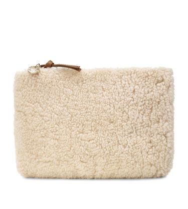 Medium Zip Pouch Sheepskin
