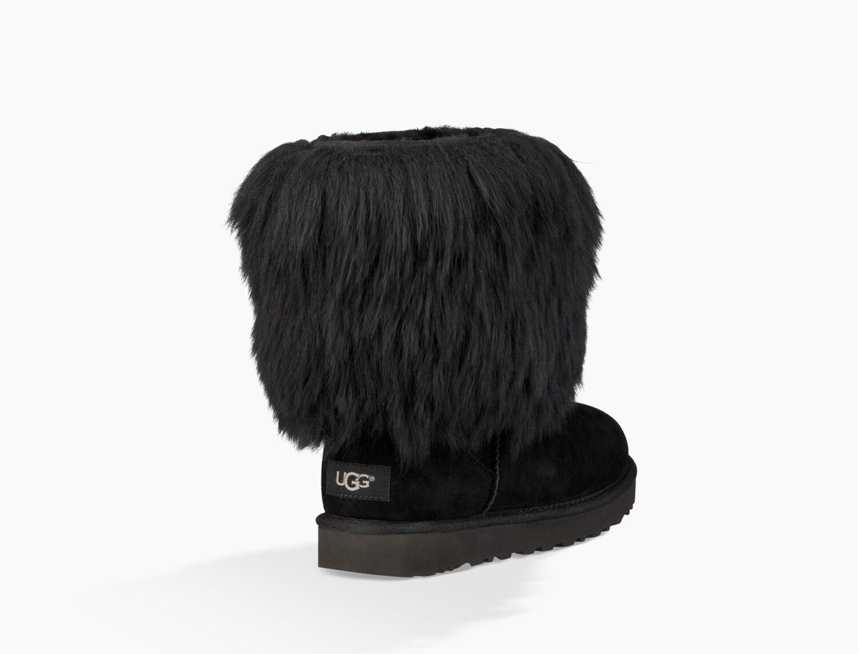 ugg sheepskin cuff boot black size 8