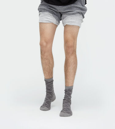 Cotton Textured Crew Sock