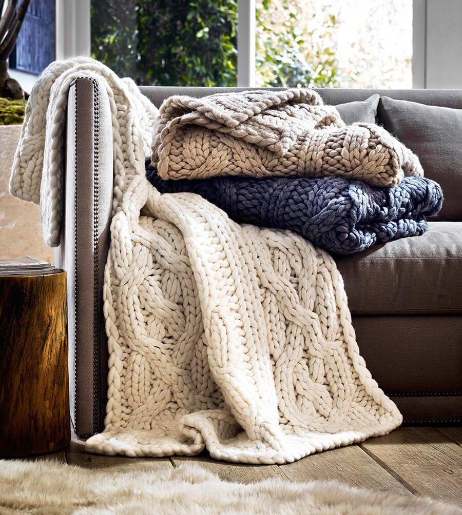 "Oversized Knit Blanket-50x70"" - Image 3 of 3"