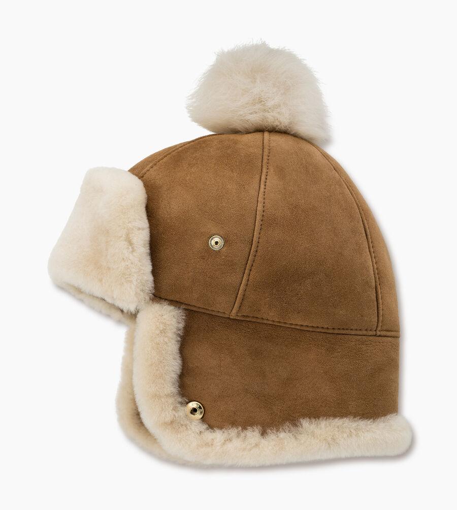Sheepskin Pom Hat - Image 1 of 2