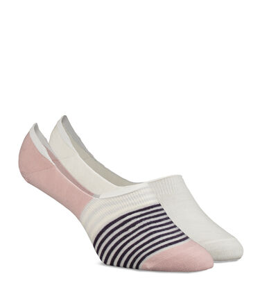 Striped No-Show 2 Sock Pack