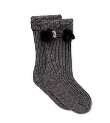 Raana Pom Pom Rain Boot Sock