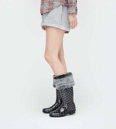 Faux Fur Tall Rain Boot Sock