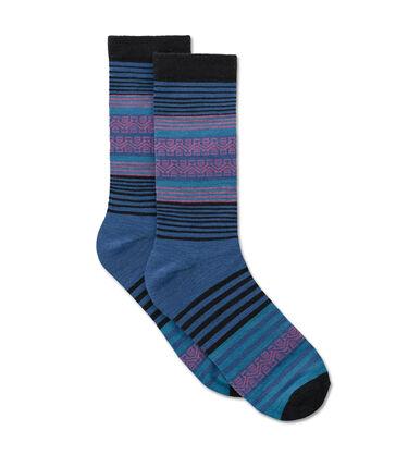 Merino Stripe Crew Sock