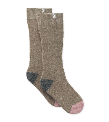 Color-Blocked Boot Sock